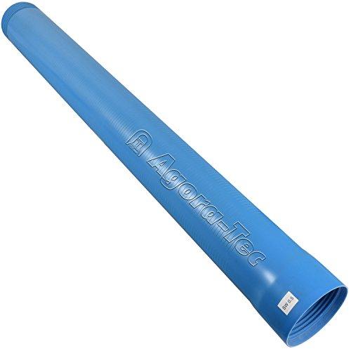 Agora-Tec Brunnenrohr (Filterrohr) 4 Zoll DN 100 blau 1 Meter (Schlitzweite: 0,5mm) für den Bau eines Tiefbrunnen