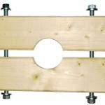 Holzzange für KG Rohre