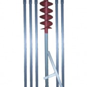 6 m Erdbohrer mit 120 mm Bohrkopf