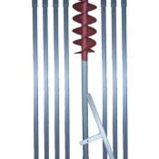 8 m Erdbohrer mit 160 mm Bohrkopf