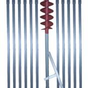 Erdbohrer mit 120 mm Bohrkopf