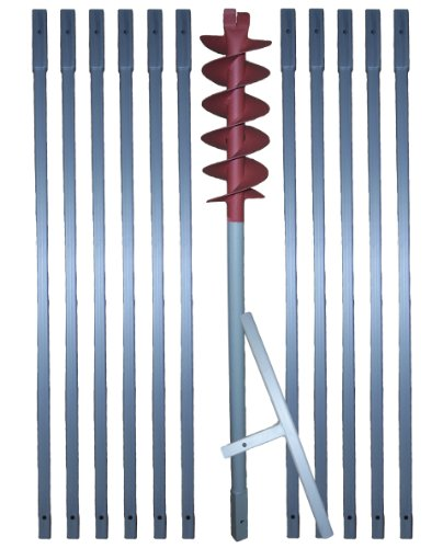 12 m Erdbohrer mit 160 mm Bohrkopf