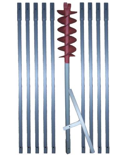 10 m Erdbohrer mit 120 mm Bohrkopf —