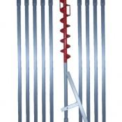 10 m Erdbohrer mit 70 mm Bohrkopf