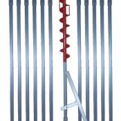 12 m Erdbohrer mit 70 mm Bohrkopf