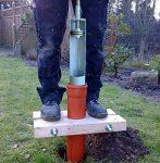 Holzzange für KG/HT Rohr DN 100